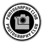 Icon or logo photography club — Stock Vector