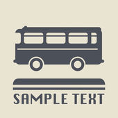 Bus Icon or sign — Stock Vector
