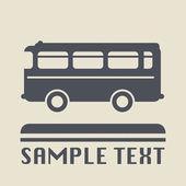 Otobüs simgesini veya işareti — Stok Vektör
