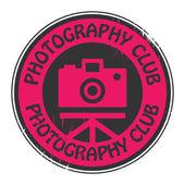 Icône ou un logo club de photographie — Vecteur