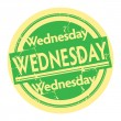 Stamp with text Wednesday — Stock Vector #33396293