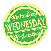Stamp with the text Wednesday — Stock Vector