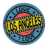 Stamp I Love Los Angeles — Stock Vector