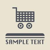 Shopping cart icon or sign — Stock Vector