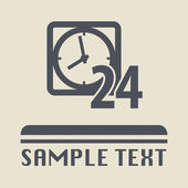 Open 24 hours icon or sign — Vector de stock