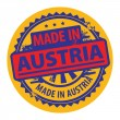Made in Austria inside the stamp — Stock Vector