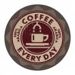 Grunge stamp with coffee cup — Stock Vector