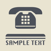 Phone icon or sign — Vector de stock