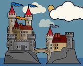 Zamek bajki — Wektor stockowy