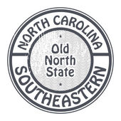 Grunge rubber stamp with name of North Carolina, Southeastern — Stock Vector