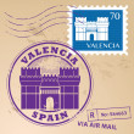 Stamp Valencia, Spain — Stock Vector #34550449