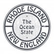 Stamp Rhode Island, New England — Stock Vector