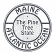 Stamp Maine, Atlantic Ocean — Stock Vector