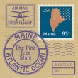 Rubber stamp Maine — Stock Vector #34592747