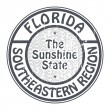 Stamp Florida, Southeastern Region — Stock Vector