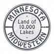 Stock Vector: Stamp Minnesota, Midwestern