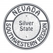 Stamp Nevada, Southwestern Region — Stock Vector