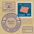 Rubber stamp Oregon — Stock Vector #34595137