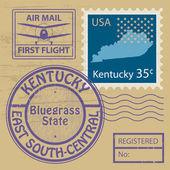 Grunge rubber stamp Kentucky — Stock Vector