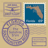 Rubber stamp Florida — Stock Vector