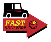 Delivery car sign — Stock Vector