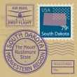 Stock Vector: Stamp set with name of South Dakota