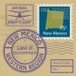Stock Vector: Stamp set with name of New Mexico