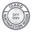 Stock Vector: Idaho, Northwestern Region stamp