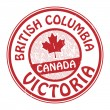 Canada, British Columbia stamp — Stock Vector