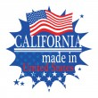 Label Made in California — Stock Vector