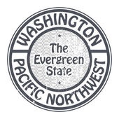 Washington, Pacific Northwest stamp — Vector de stock