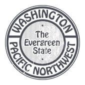 Washington, Pacific Northwest stamp — Vettoriale Stock