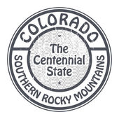 Colorado, Southern Rocky Mountains stamp — ストックベクタ