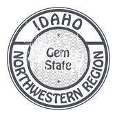 Idaho, Northwestern Region stamp — Stock Vector