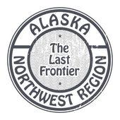 Stamp with name of Alaska, Northwest Region — Stock Vector