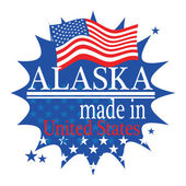Label Made in Alaska — Stock Vector