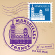 Stock Vector: Stamp Marseilles, France