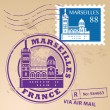 Stamp Marseilles, France — Stock Vector
