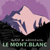 Mont Blanc, mountain in the Alps — Vettoriale Stock