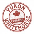 Stock Vector: Stamp with name of Canada, Yukon and Whitehorse