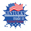 Stock Vector: Label with flag and text Made in Kentucky