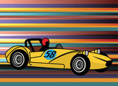 Retro style sport car — Stock Vector