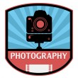 Photography label — Stock Vector