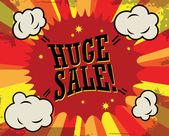 Huge sale label — Stock Vector