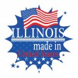 Label with flag and text Made in Illinois — Vector de stock #35166511