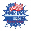 Stock Vector: Label with flag and text Made in Louisiana