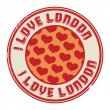 Stamp with text I love London — Stock Vector