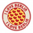 Stamp with text I love Berlin — Stock Vector