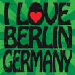Stock Vector: Label with text I love Berlin, Germany