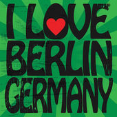 Label with text I love Berlin, Germany — Stock Vector